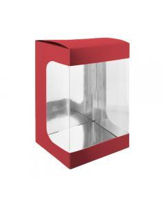 Boîte moulage rouge 18 cm