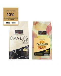 Promotion 18kg opalys et 9kg inspiration passion