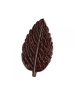 Décors feuilles en chocolat noir