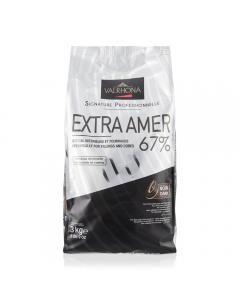 Extra amer 67% fèves 3 kg