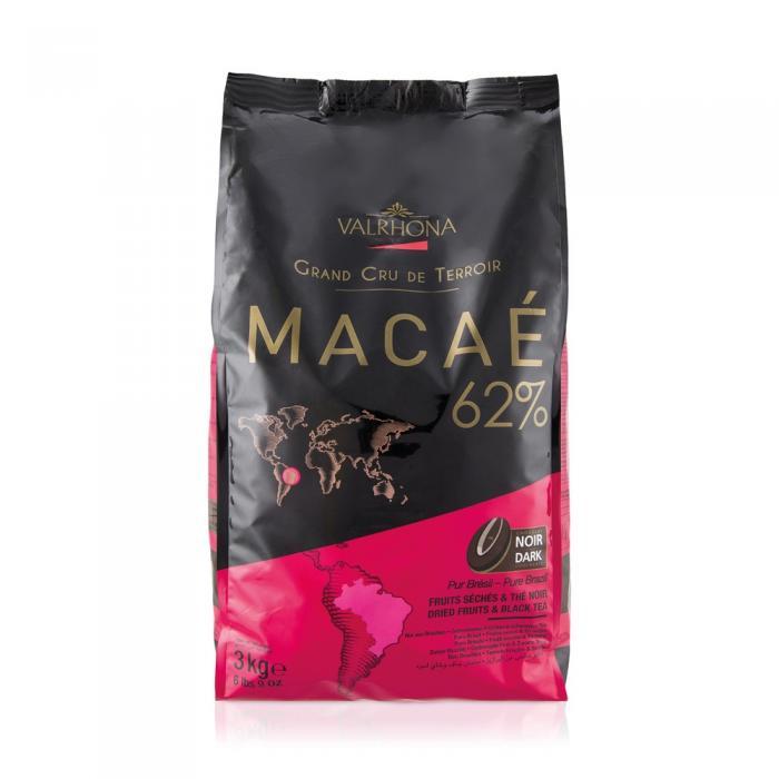 Macae 62% feves 3 kg par Valrhona