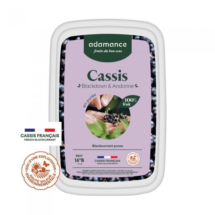 Cassis blackdown et andorine en puree 1kg par Adamance