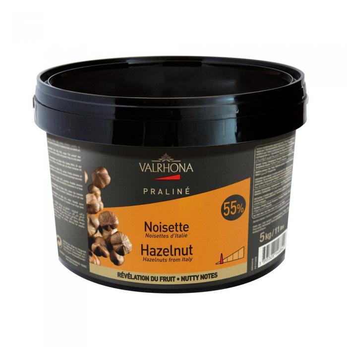 Praline Noisette 55% fruite 5 kg par Valrhona