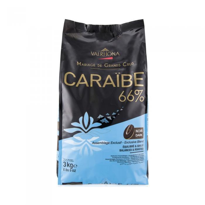 Caraibe 66% feves 3 kg par Valrhona