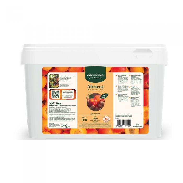Abricot flavor cot et lido en puree 5kg par Adamance