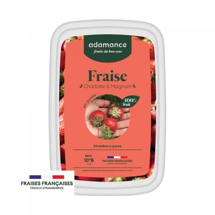 fraise charlotte et magnum en purée 1kg par adamance
