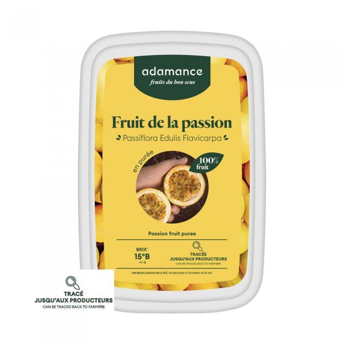 Fruit de la passion en puree 1kg par Adamance